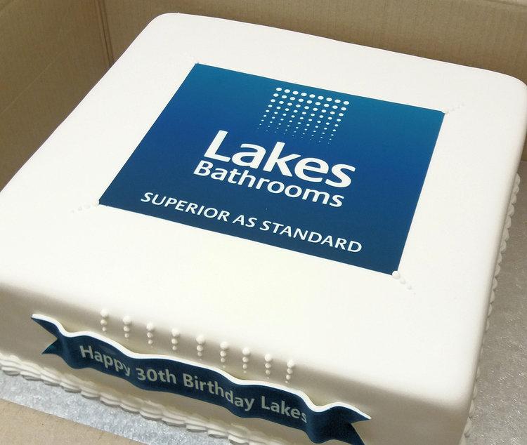 lakes corporate cake