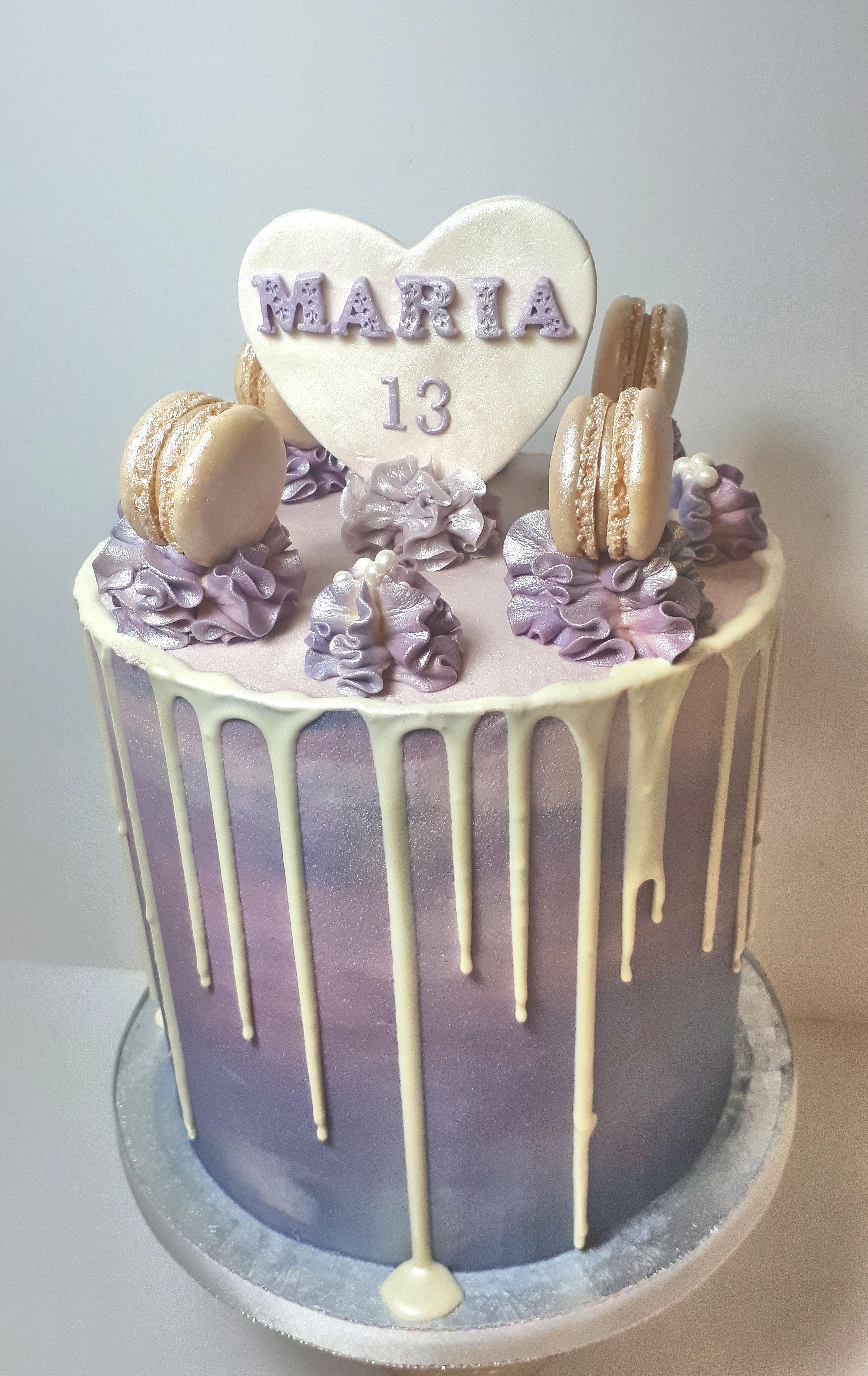 lilac buttercream girls birthday cake