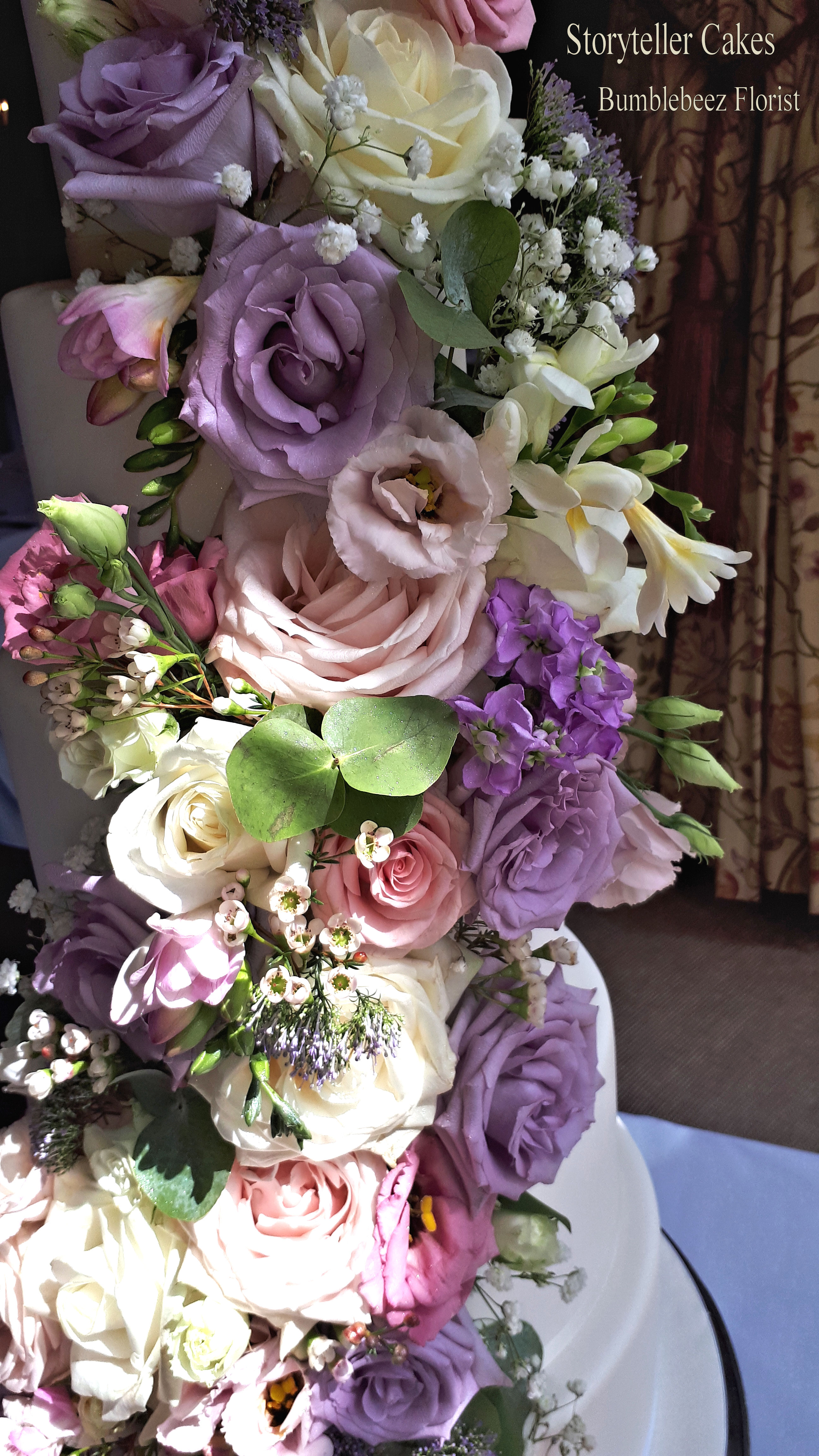 fresh flower 6 tier wedding cake