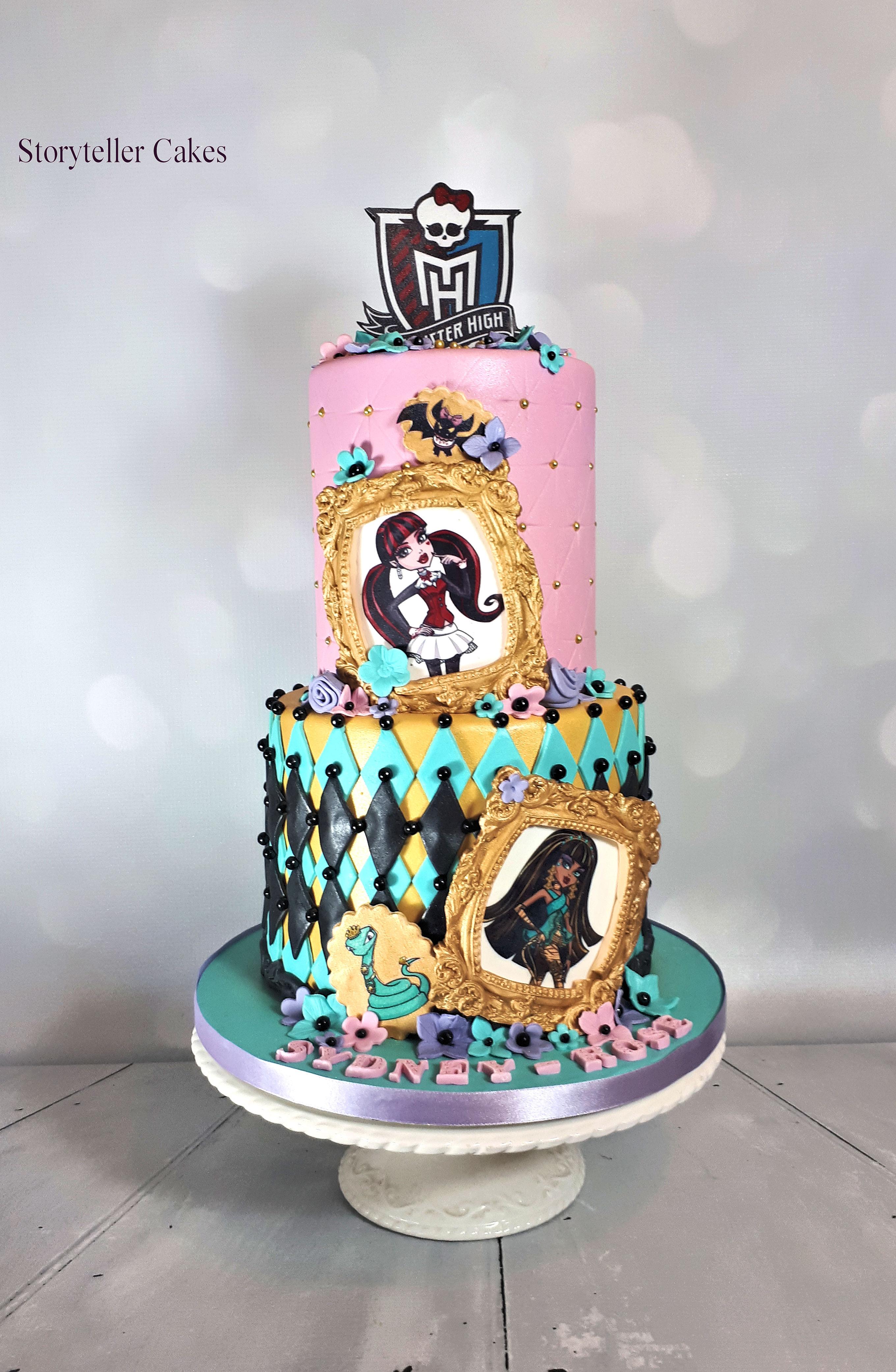 monster high girls birthday cake