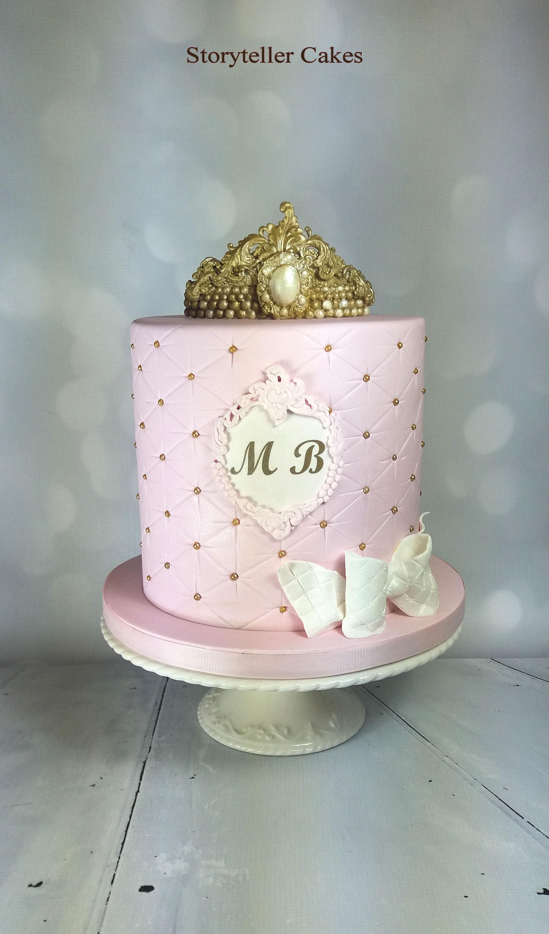 tiara girls cake