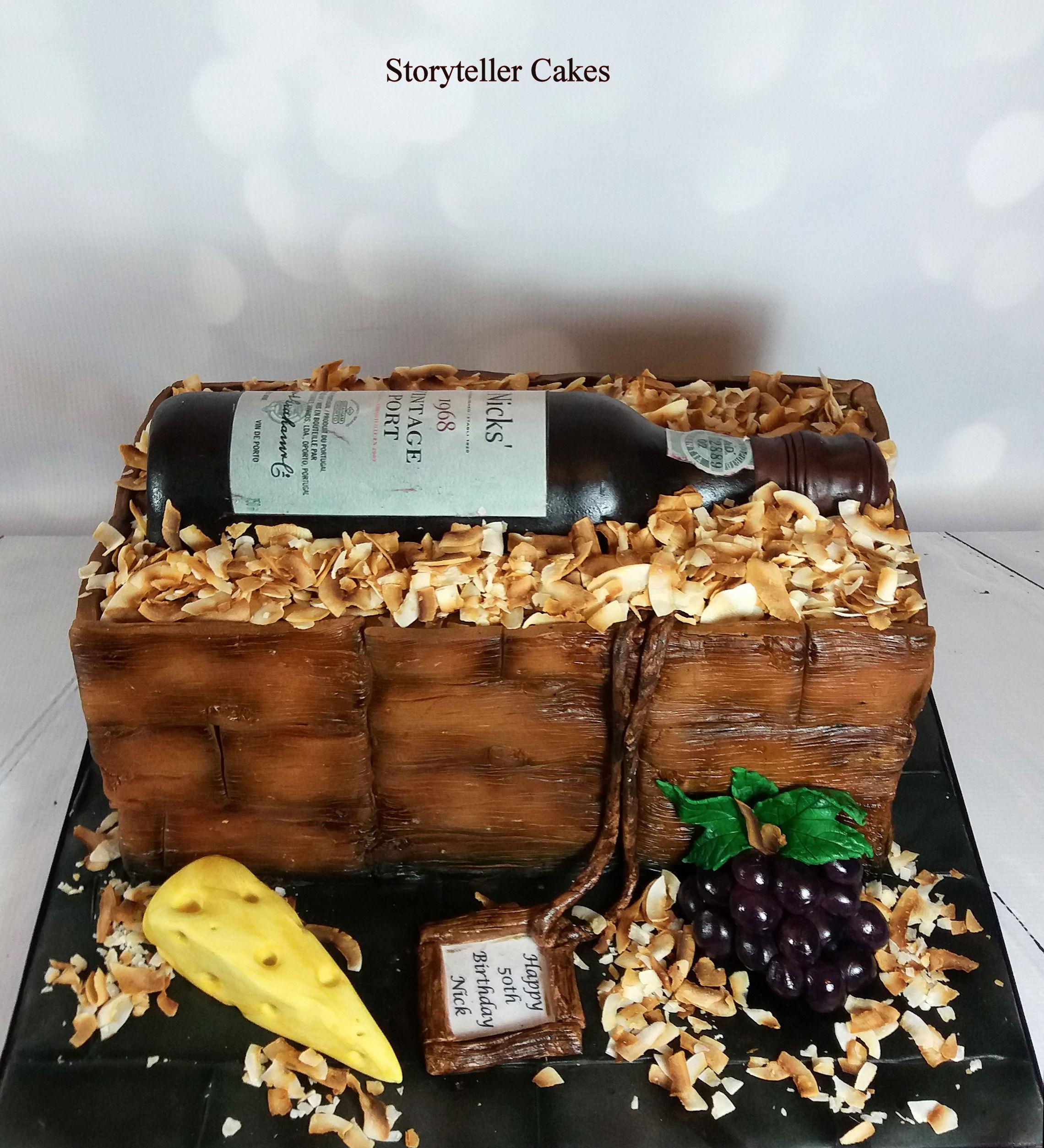 Marvelous Port Wine Bottle Birthday Cake Funny Birthday Cards Online Unhofree Goldxyz