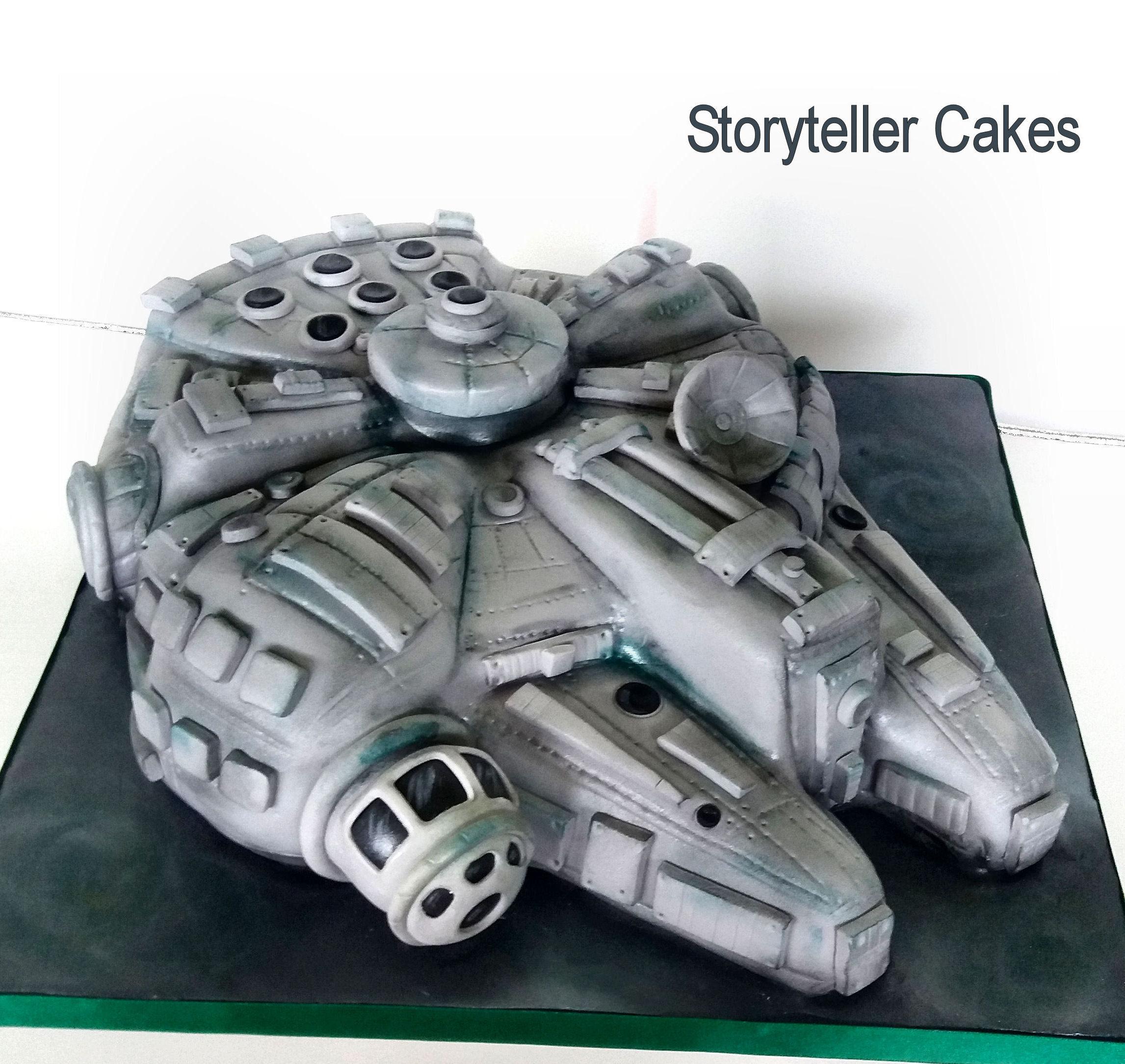 millennium Flacon cake