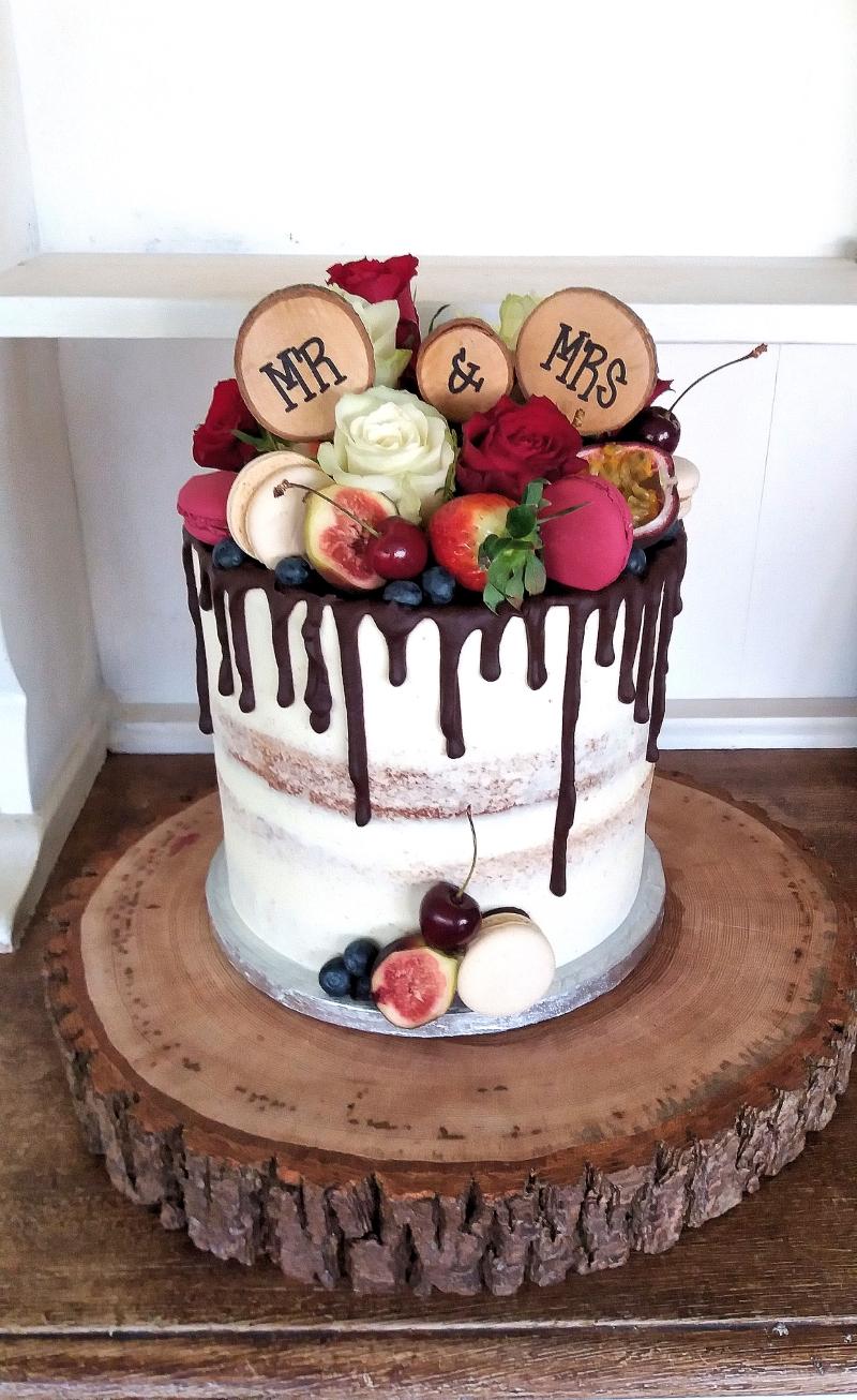 buttercream fresh fruit wedding cake