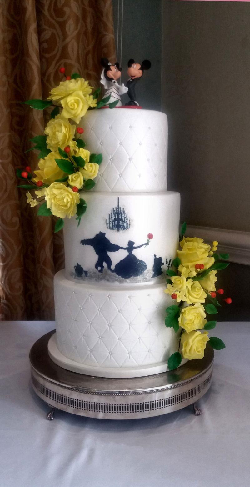 Beauty & The Beast Wedding Cake