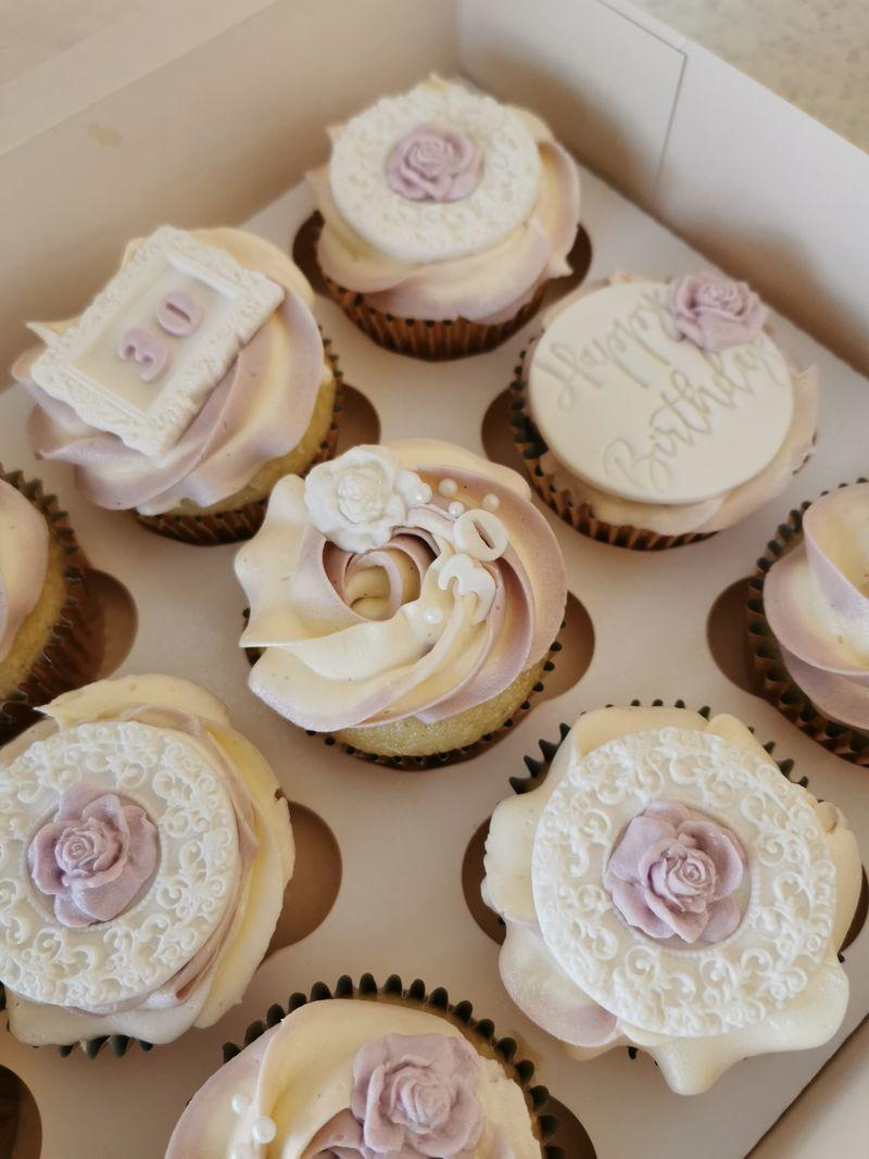Violet Birthday Cupcakes