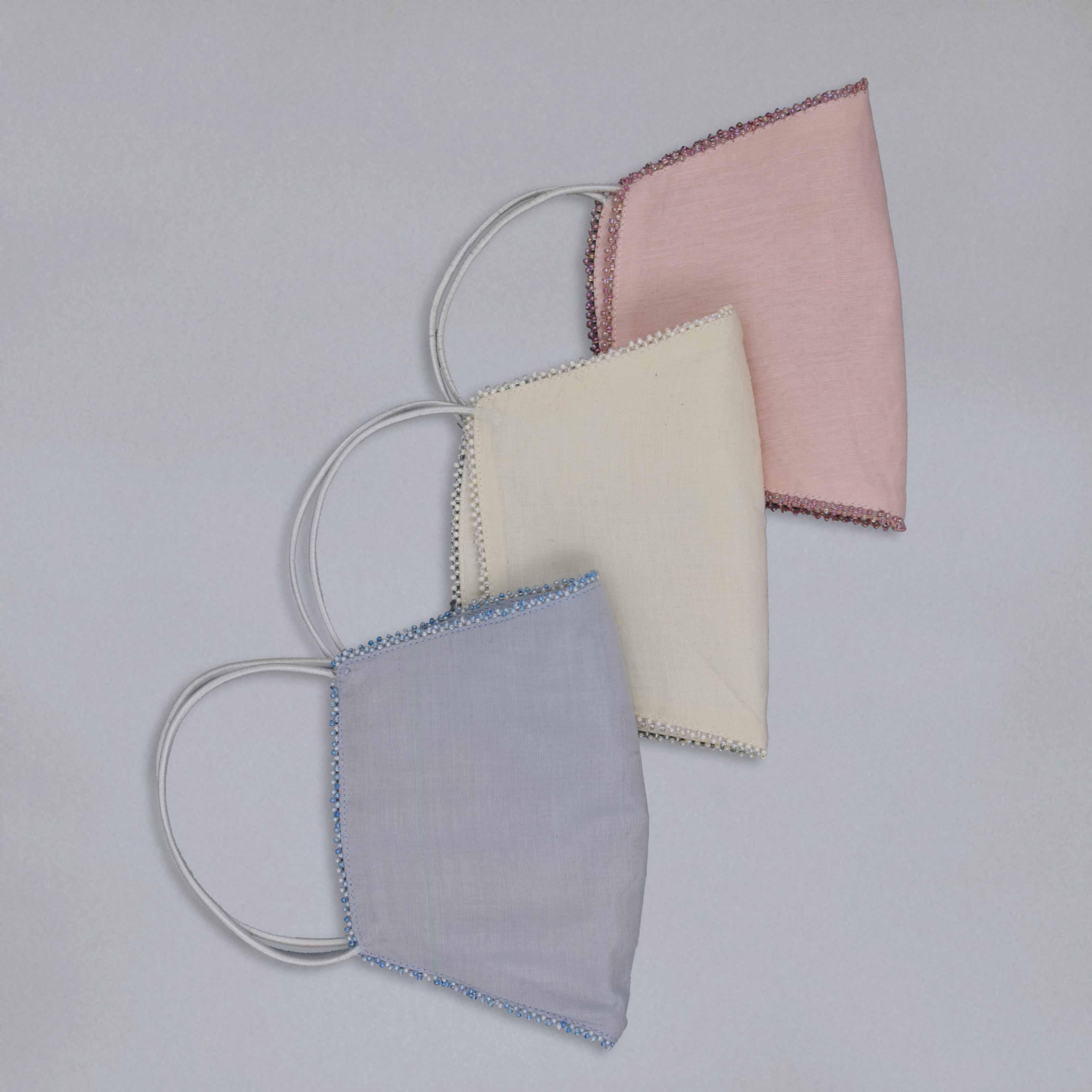 Set of three masks | Beaded