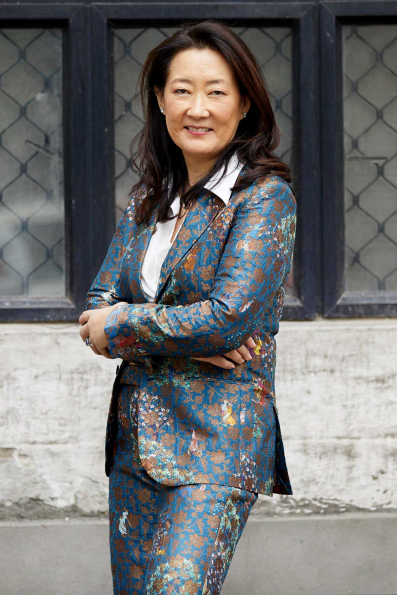 Patricia Dhar in a suit