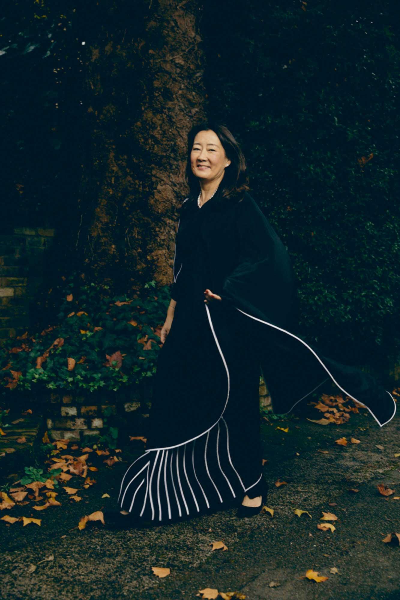 Patricia Dhar in a sari