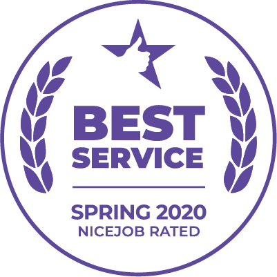 A1 Plumbing won the spring 2020 Best Service award from NiceJob