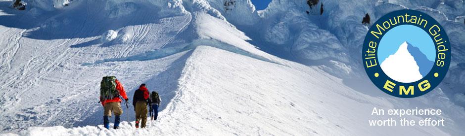 Mountain climbing with Elite Mountain Guides