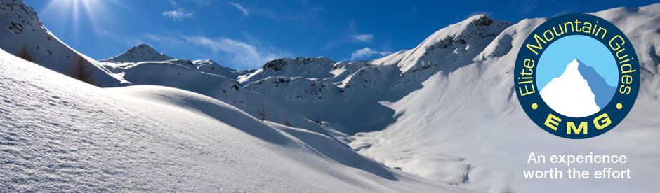 Off piste skiing with Elite Mountain Guides