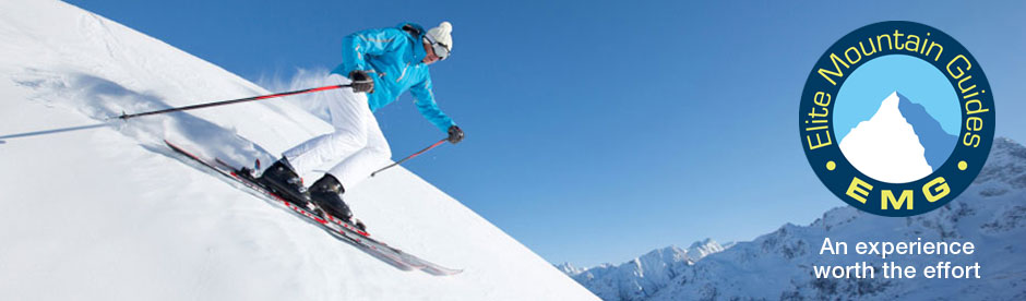 Skiing with Elite Mountain Guides
