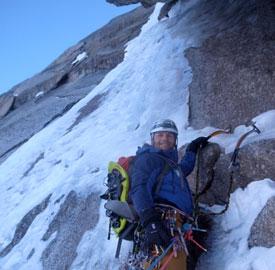 Crux Pitch on 'Fil A Plomb' III,4+,TD, North Face Col Du Plan, Chamonix