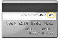 credit card security code