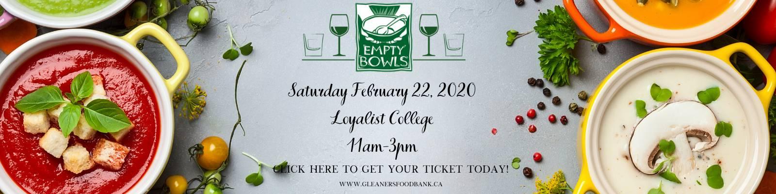 Empty Bowls Empty Glasses