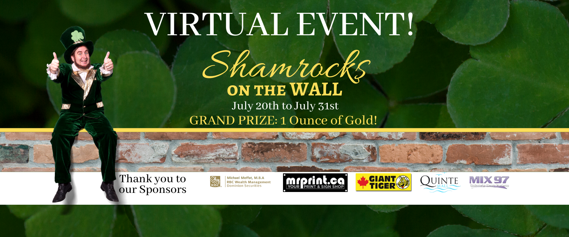 Test your luck with a chance to WIN one ounce of Gold!