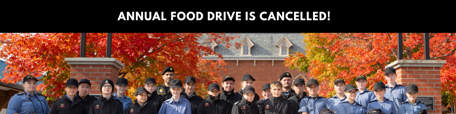 Annual City Wide Food Drive is Cancelled!