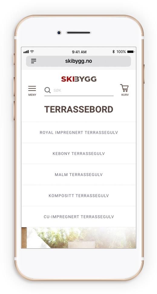 Mobil-design av et norsk firma