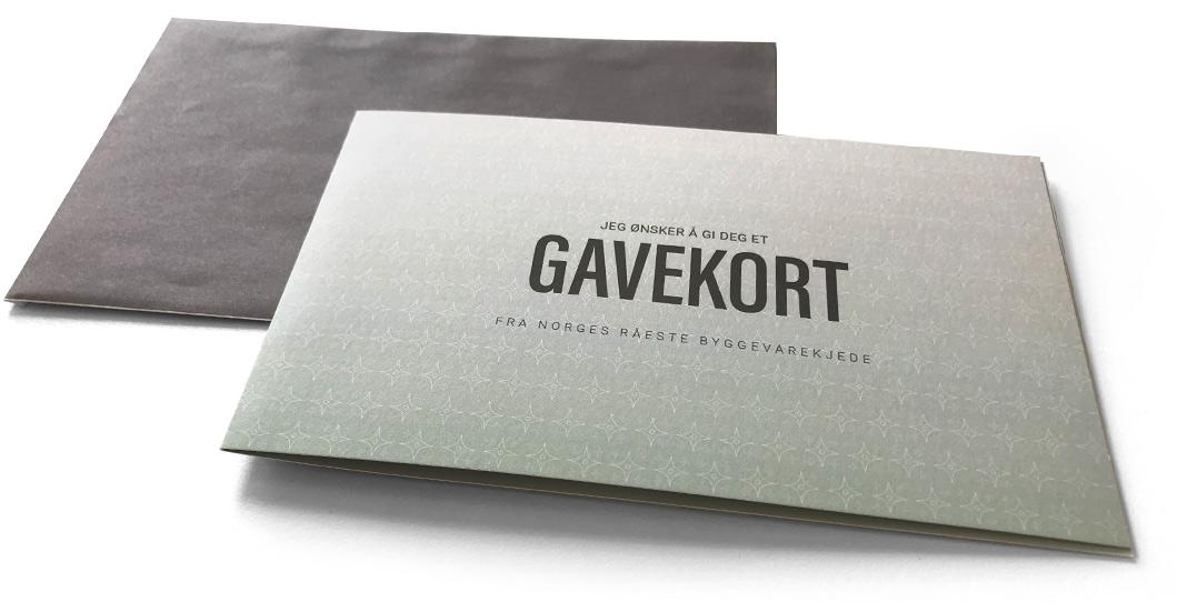 Gavekort og annet grafisk materielle