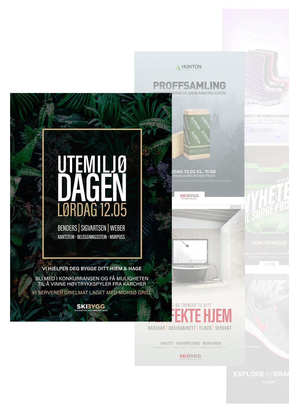 Utvalg av posterdesign av Sanzero Designbyrå