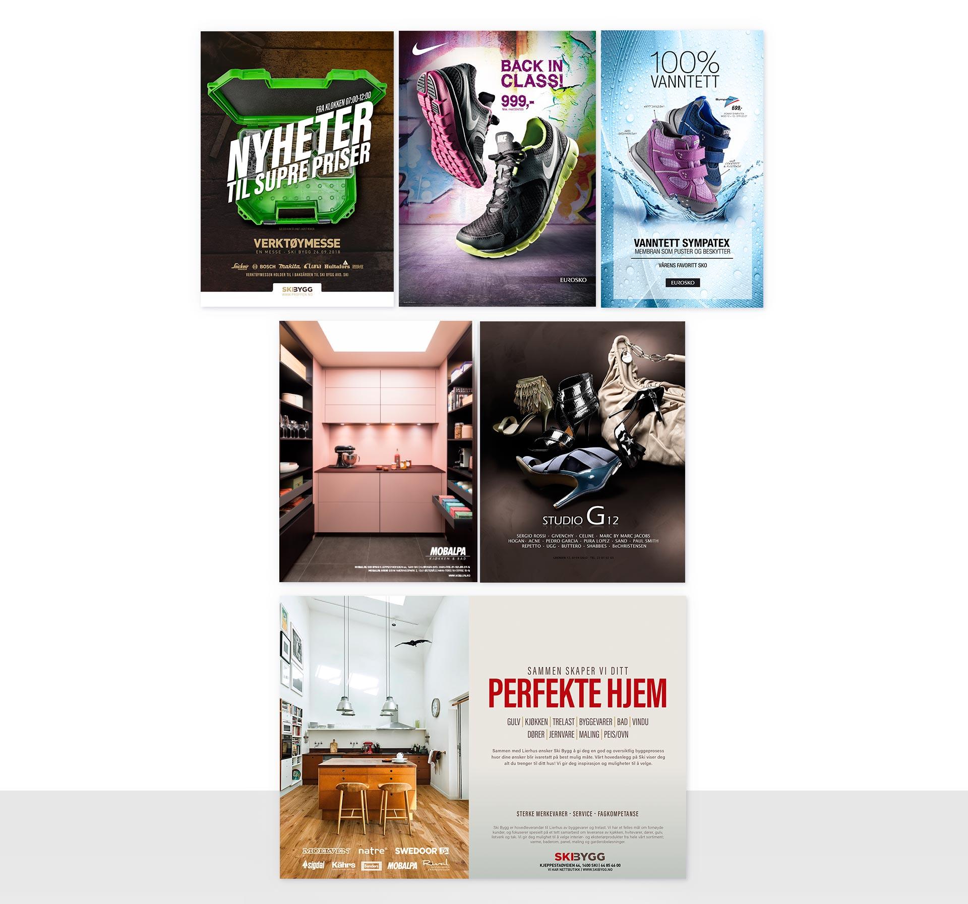 Trykket annonser fra Sanzero Designbyrå