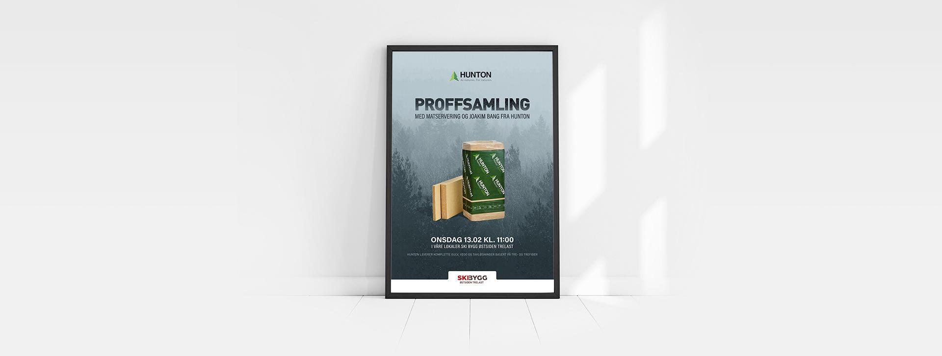 Posterdesign produsert av Sanzero Designbyrå