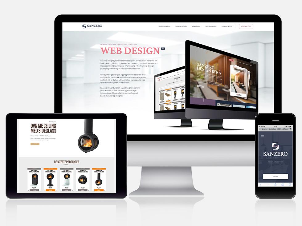 Responsiv webdesign laget av Sanzero Designbyrå