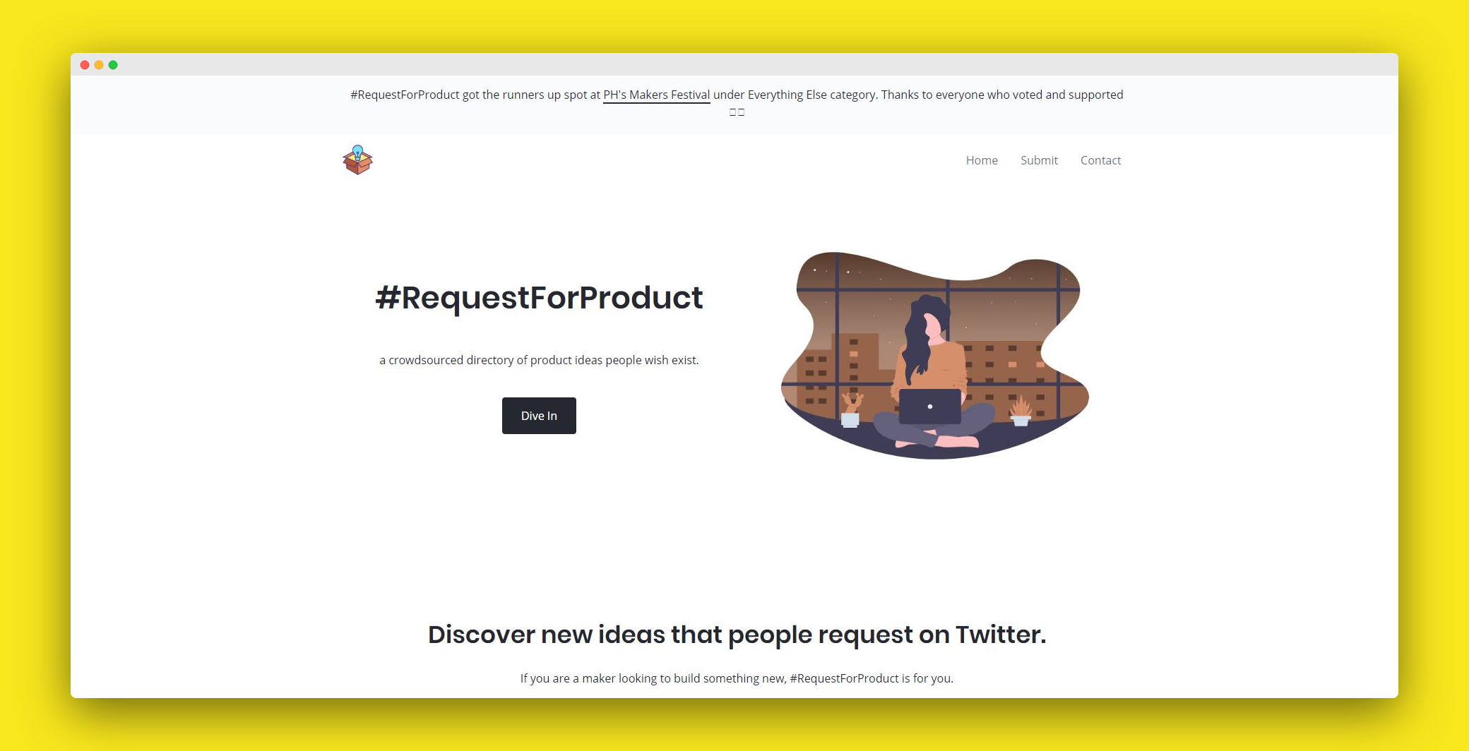 a crowdsourced directory of product ideas people wish exist