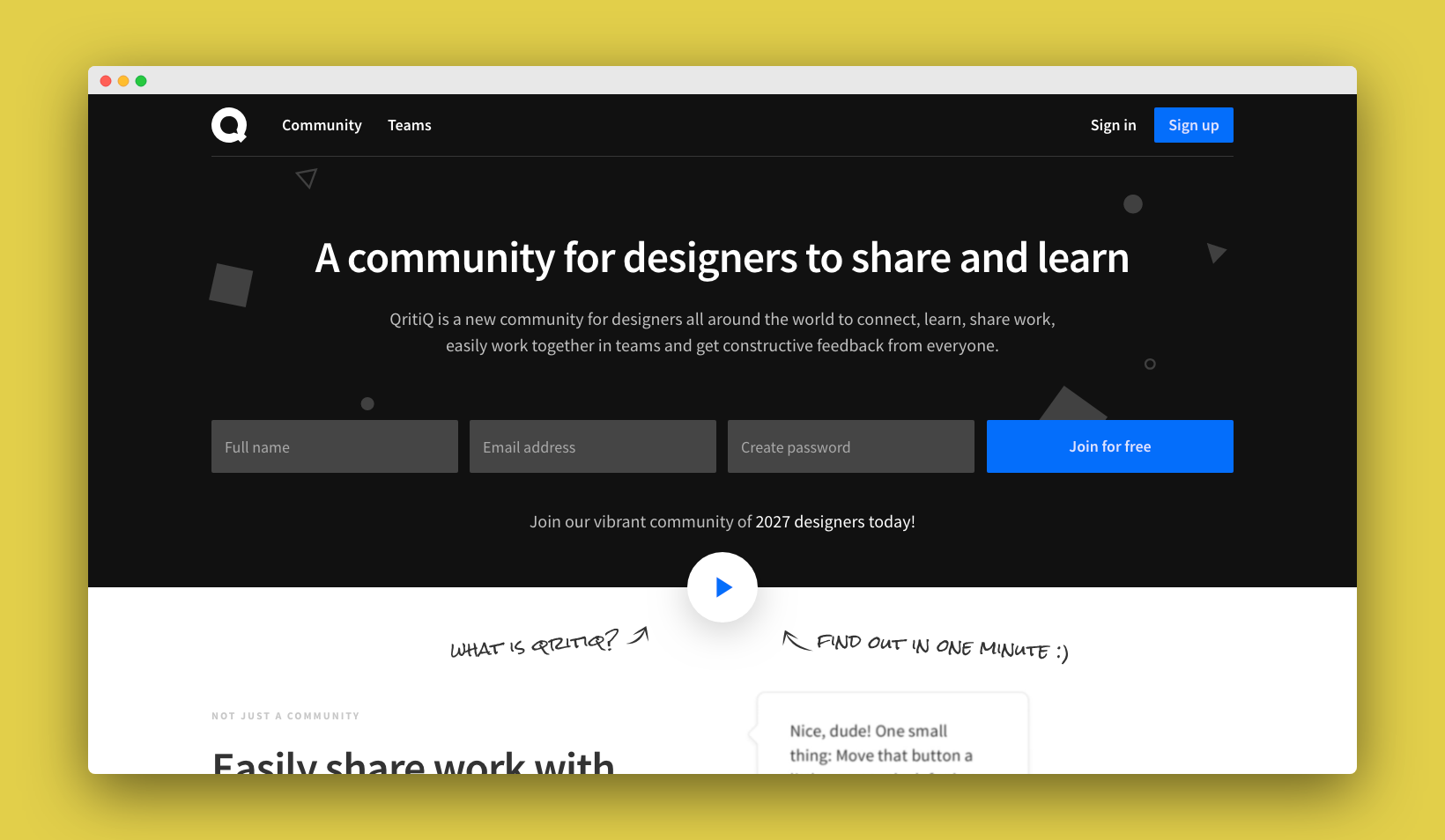 A community for designers to share and learn