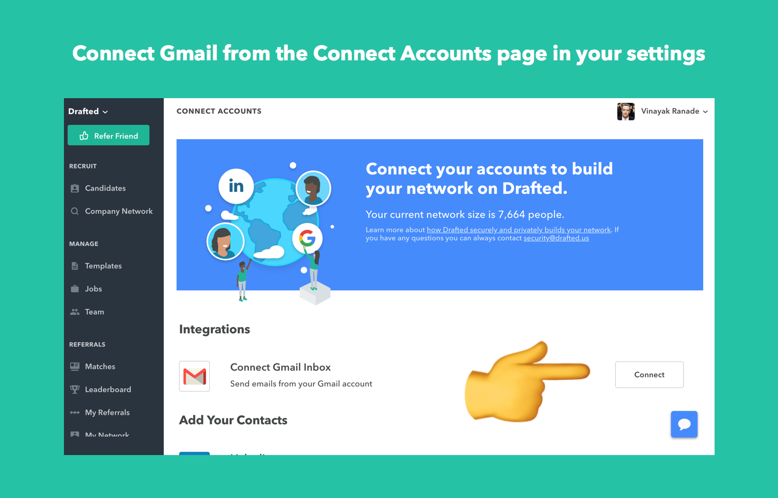 Gmail integration on Drafted