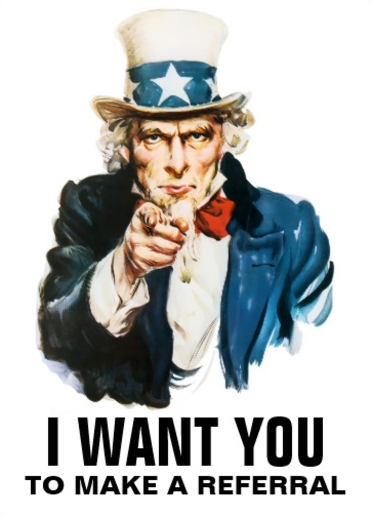 i want you to make a referral