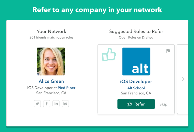 team members, referrers, and job seekers