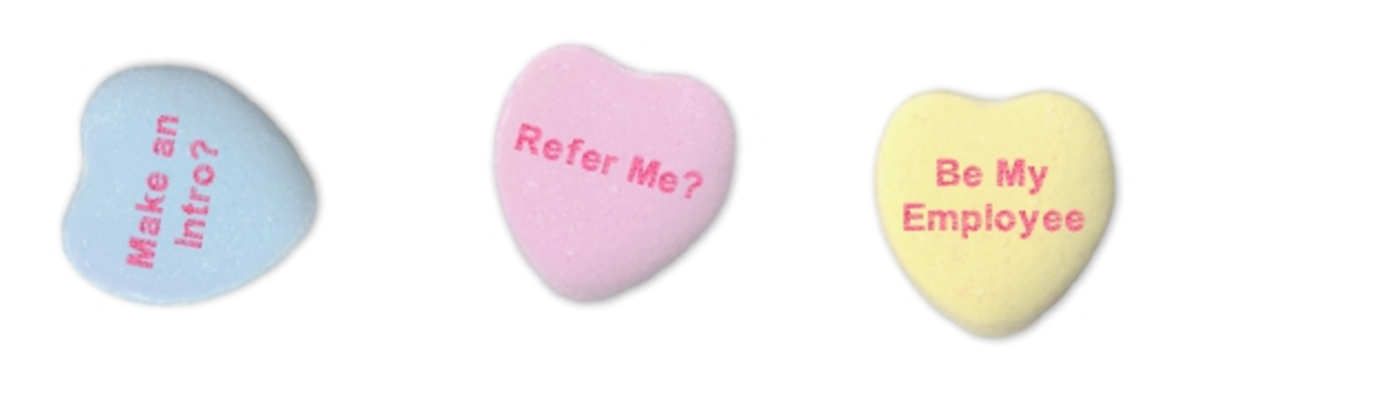 referrals valentines day hearts HR