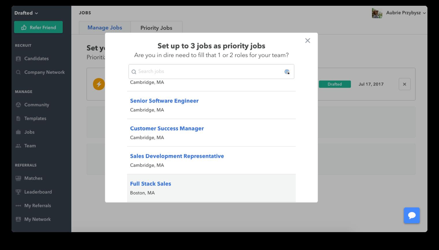 add a priority job