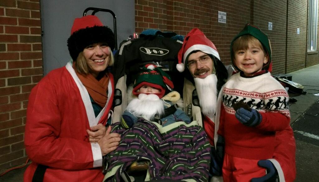 santa run happy photo