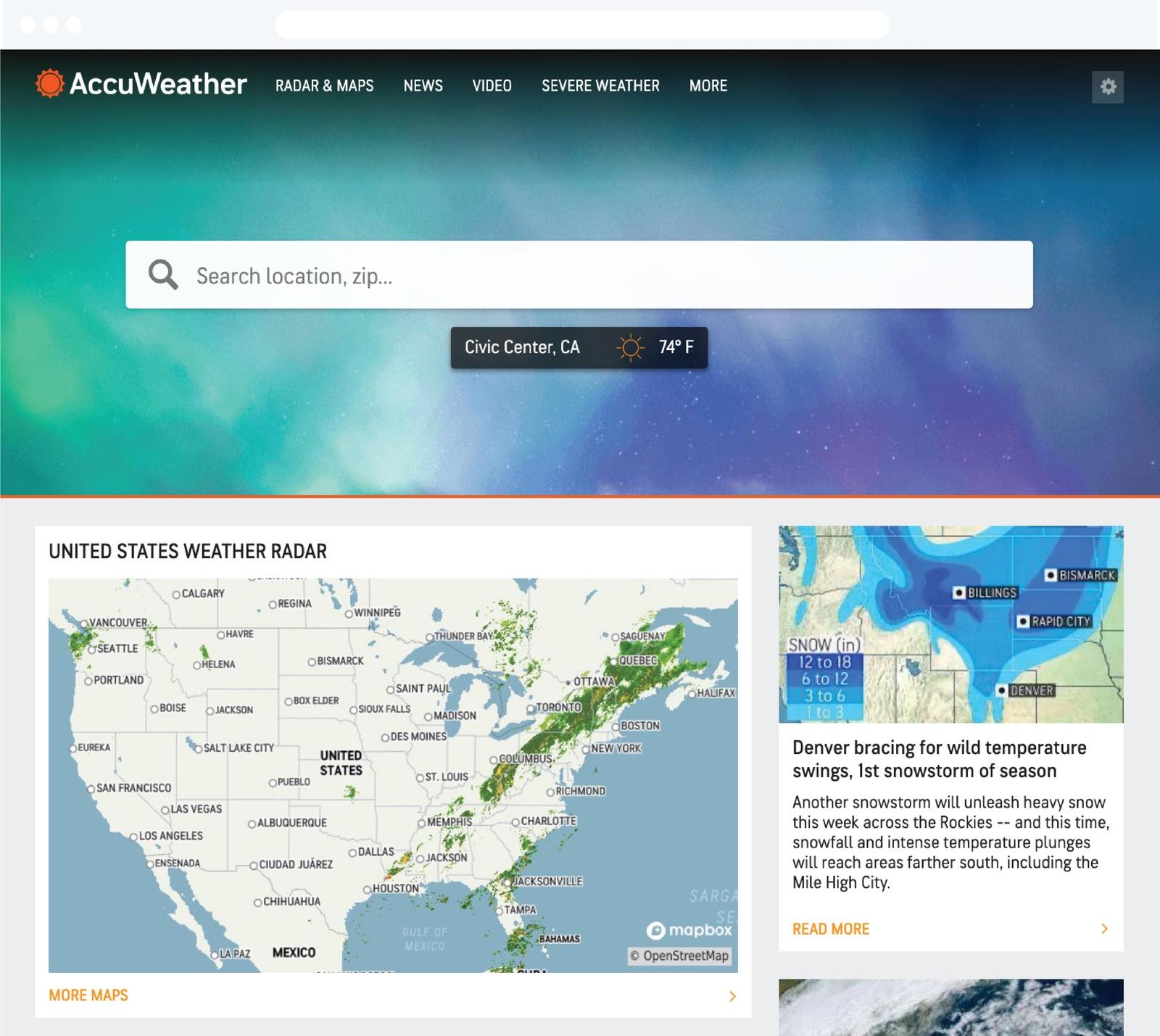 AccuWeather | Customer Stories | Mapbox