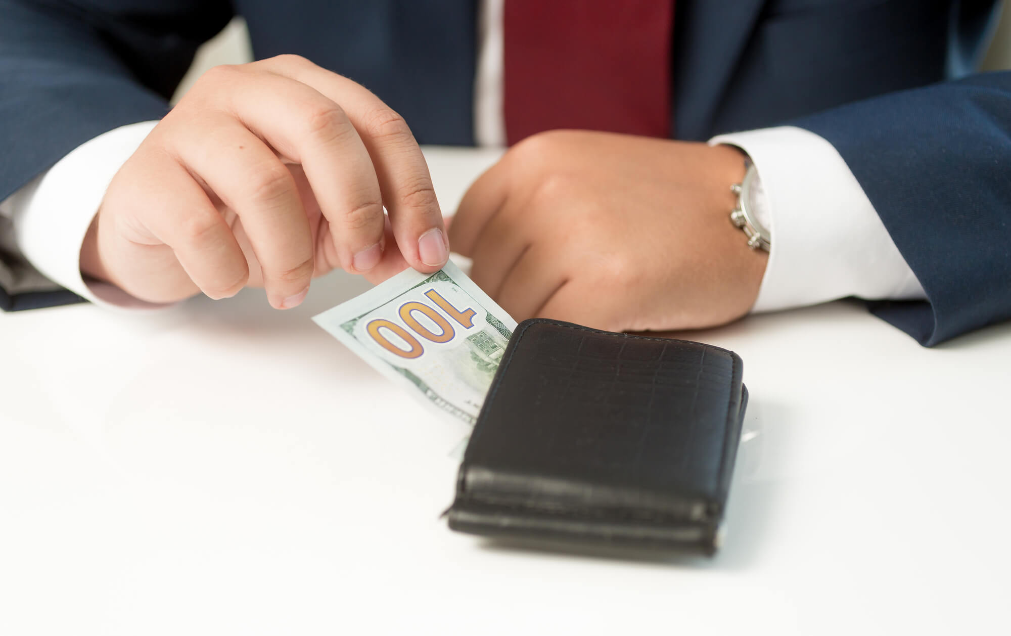 Closeup of a business man committing a White Collar Crime Lawyer West Palm Beach