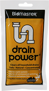 Drain Power for drain blockages in septic system