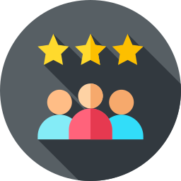 Reviews Logo with people and stars