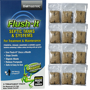 12 month Flush It bacteria Product for Smelly Septic Tanks