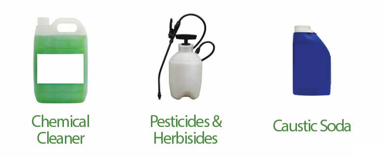 items that ruin your septic system chemical cleaner pesticides and herbicides and caustic soda
