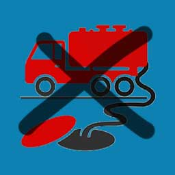 don't pump out smelly septic tank truck