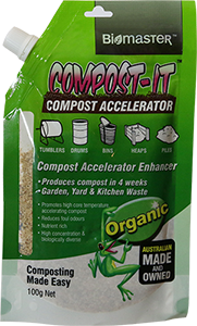 Compost It Spout Pouch Product for Compost Bin for Compost Accelerator
