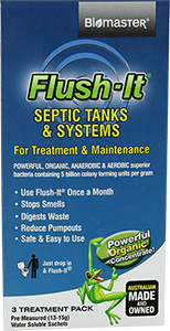 3 month Flush It bacteria Product for Smelly Septic Tanks