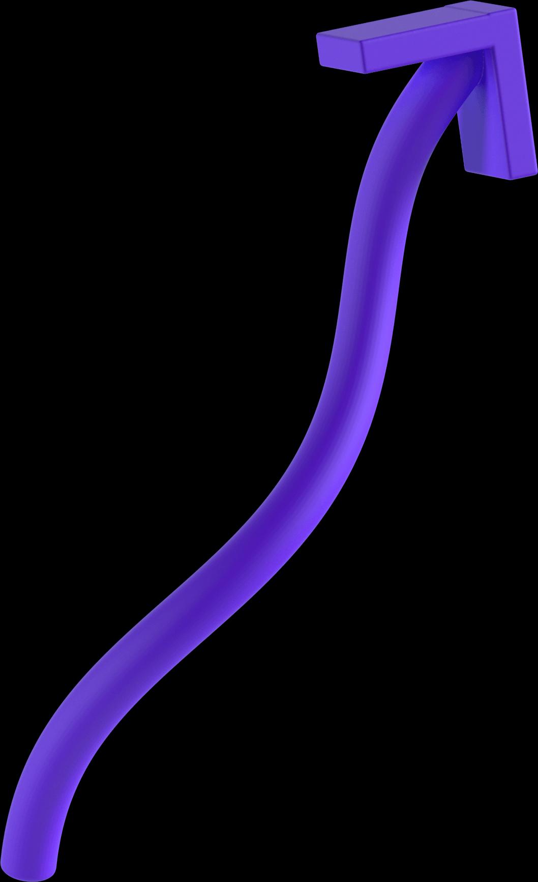 3d purple arrow