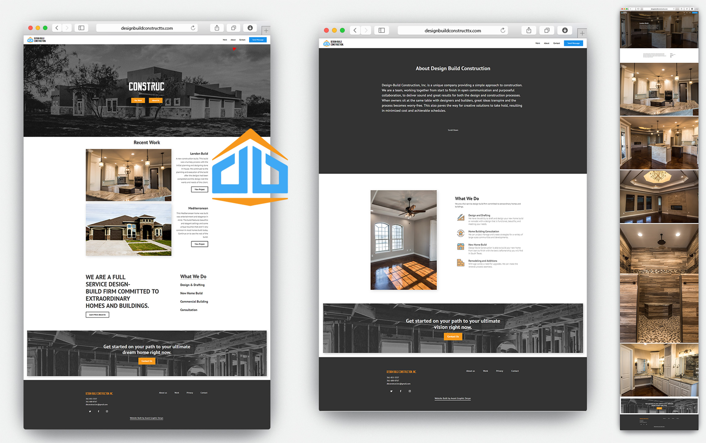 pages for design build construction
