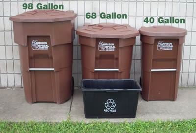 Waste Collection Container Sizes - Nisswa Sanitation