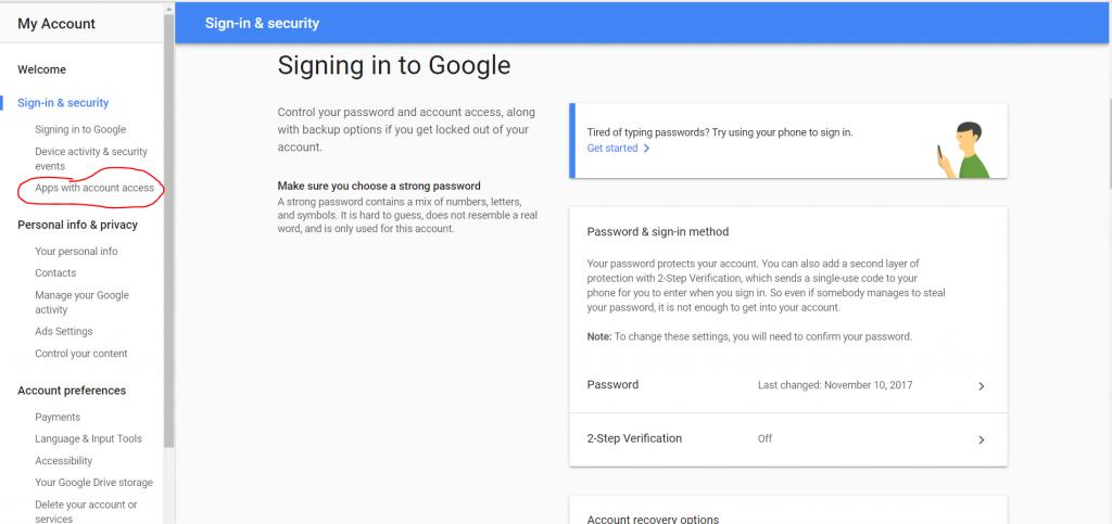 Gmail để triển khai cài đặt sửa lỗi bật lên cho các ứng dụng truy cập ứng dụng kém an toàn hơn với quyền truy cập tài khoản