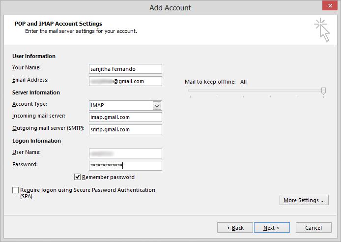 Gmail on Outlook SETUP & Login Popup Error: FIX FOUND